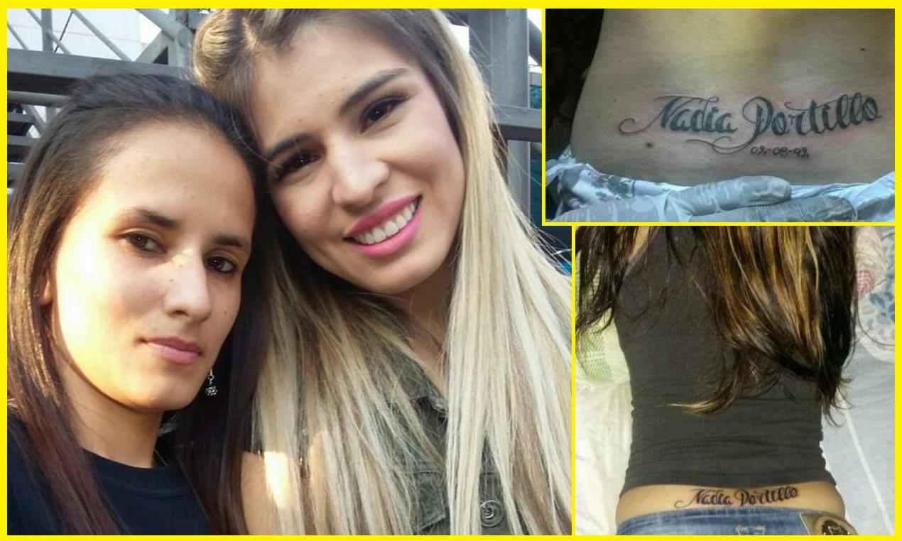 Fans enamorada de Nadia Portillo se tatuó su nombre en casi todo el cuerpo?