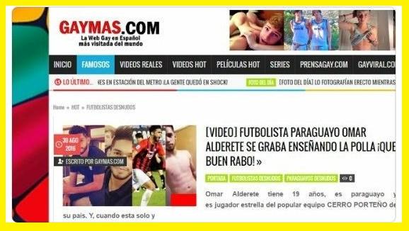Video-Escàndalo. El futbolista de Cerro Porteño Omar Alderete en pàgina gay desnudo!!!