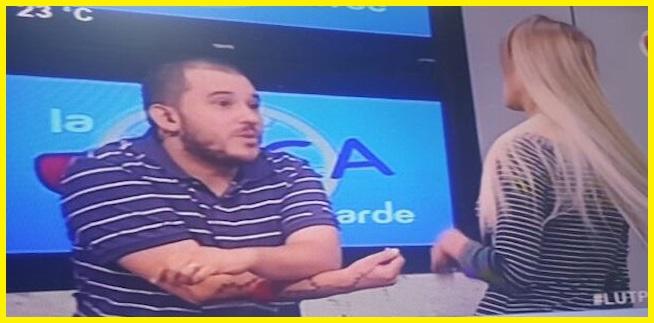 Jessica Sly le dijo a Jose Ayala que está gordo y el conductor de tv se ofendió bastante.