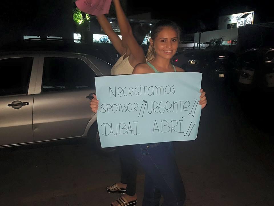 Modelos se manifestaron pidiendo reabrir Dubai Disco y poder seguir facturando.