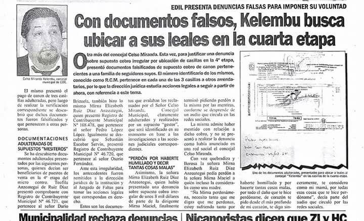 Con documentos falsos, Kelembú trata de ubicar a sus amistades en la cuarta etapa.