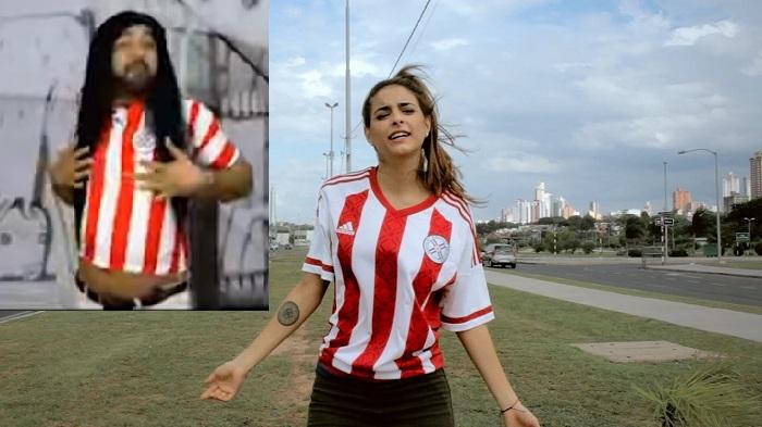 """El churero parodia a Pati Ginzo colgandose de la enmienda """"Soy tan figureta""""."""